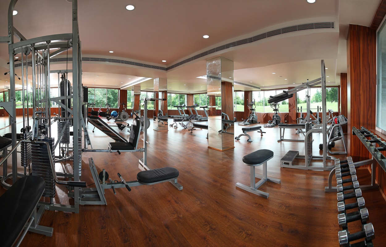 The well equipped Gym